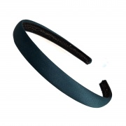 1.5cm Bottle Green Matte Satin Headband