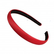 1.5cm Red Matte Satin Headband