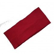 Burgundy Textured Cotton Wide Headband Bandeau