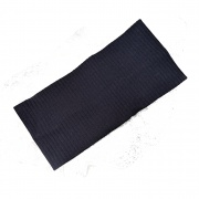 Navy Blue Textured Cotton Wide Headband Bandeau