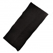 Black Textured Cotton Wide Headband Bandeau