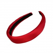 Red Padded Satin Hair Band