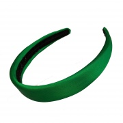 Emerald Green Padded Satin Hair Band