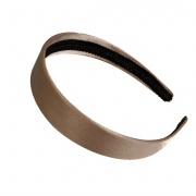 Mocha Brown Satin Hair Band