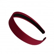 2.5cm Burgundy Matte Satin Headband
