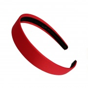2.5cm Red Matte Satin Headband