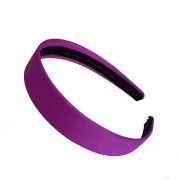 2.5cm Purple Matte Satin Headband