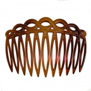 Tort Brown Looped Side Hair Comb