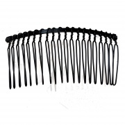 8.5cm Black Metal Side Hair Comb