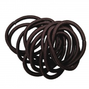 12 Chocolate Brown Snag-Free Hair Elastic Bobbles
