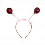 Red Christmas Bauble Deeley Bopper Headband