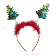 Red Tinsel Christmas Tree Deeley Bopper Headband