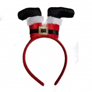 Christmas Santa Upside Down Headband Deeley Bobber