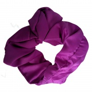 Purple Satin Style Scrunchie Hair Bobble