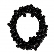 Black Faceted Glass Bead Scrunchie Hair Bobble