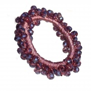 Dusky Mauve Faceted Glass Bead Scrunchie Hair Bobble