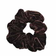 Brown Velvet Scrunchie Hair Bobble