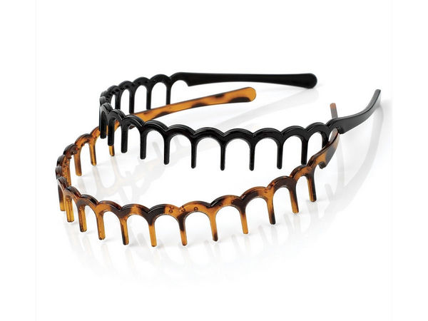 Tort Brown and Black Wave Headbands with Teeth - Buy 1 Get 1 Free 452297895fc