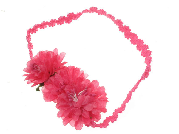 Hot pink flower garland head band buy 1 get 1 free hot pink flower garland head band mightylinksfo