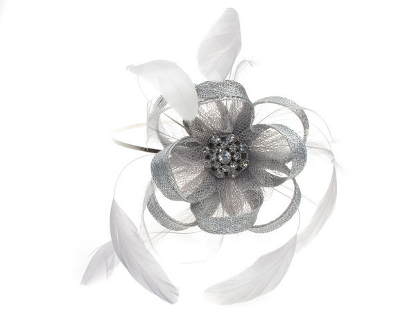 Silver Grey Crystal Lace Fascinator Band - Buy 1 Get 1 Free 6f864974983