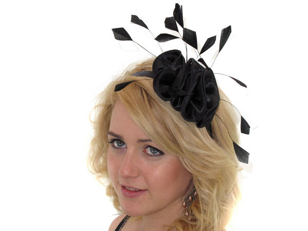 Black Satin Ruffle Fascinator Band - Buy 1 Get 1 Free 0ee438c3e90